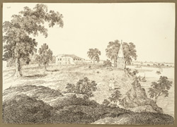 View of the opium bungalow, Hajipur (Bihar) looking S.E. 14 March 1824